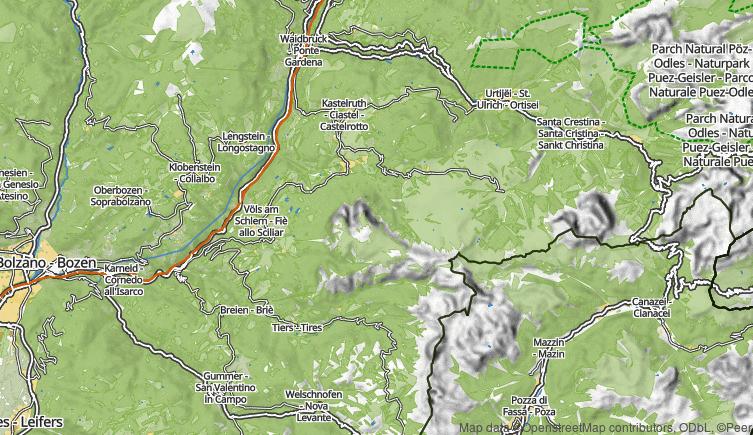 Alpe di Siusi Map Map Alpe di Siusi