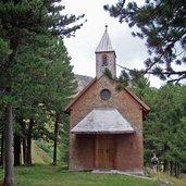 Holzkirche Dialer Hütte Seiser Alm
