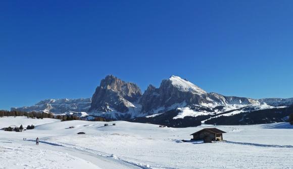 Kastelruth Ort Seiseralm Winter Castelrotto loc. Alpe di Siusi inverno