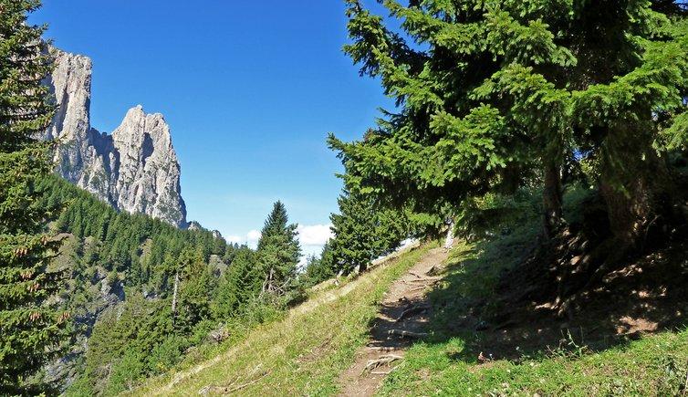 Am Geologensteig von Seis auf die Seiser Alm, Foto: AT, © Peer
